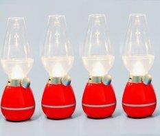 Đèn Dầu LED điện tử cảm ứng thổi tắt bật(Đỏ hồng)