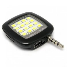 Đèn flash 16 bóng led hỗ trợ chụp hình cho điên thoại (Đen) – Hàng nhập khẩu