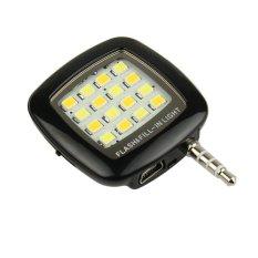 Đèn flash 16 led giắc 3.5 cho điên thoại Fourtech (Đen)