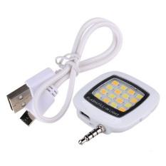 Đèn flash 16 led giắc 3.5 cho điên thoại MT Fourtech (Trắng)