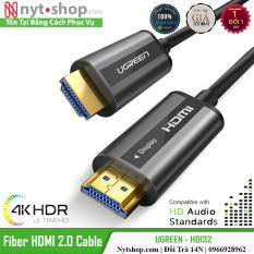 Cáp HDMI 2.0 Sợi Quang Dài 20M Chính Hãng UGREEN HD132 Cao Cấp