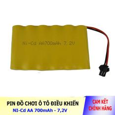 Pin Ni-Cd 7.2V 700mAh cổng SM dành cho xe đồ chơi ô tô điều khiển (vàng)