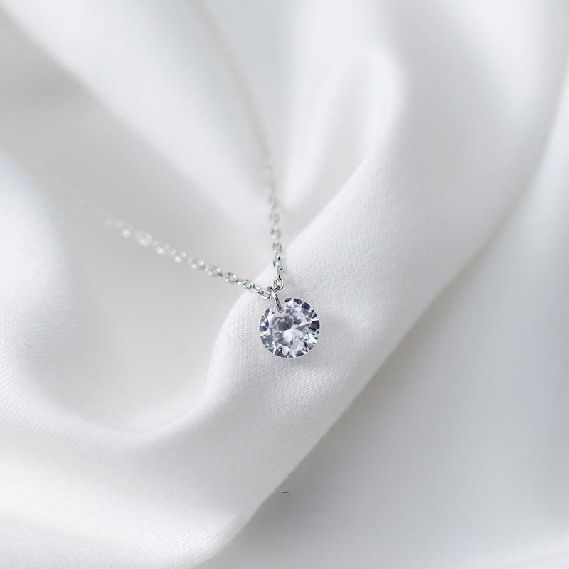Dây Chuyền Bạc Nữ | Dây Chuyền Đính Đá Sáng | Dây Chuyền Bạc S925 Cao Cấp – DB2474 – Bảo Ngọc Jewelry