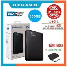 Ổ Cứng Di Động 500GB 3.0 Western Elements – Nhập Khẩu-Bảo hành 24 tháng 1 đổi 1 – Tặng túi chống sốc Và Bộ Đôi Đầu Chuyển OTG MICRO USB – TYPE C