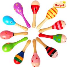 Lục lạc gỗ cho bé âm thanh vui nhộn nhiều màu sắc thiết kế đơn giản mà bắt mắt cho bé yêu thích mê Baby-S – SDC035