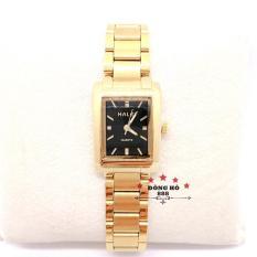 Đồng hồ nữ HALEI dây kim loại thời thượng ( HL465 Dây vàng mặt đen ) – TẶNG 1 vòng tỳ hưu phong thuỷ