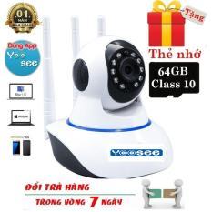 [ Tặng Thẻ Nhớ 64GB – Bảo Hành 12 Tháng ] Camera IP Wifi Yoosee 3 Râu FULL HD Không Dây Phiên Bản 2019 Xoay 360 Độ Đàm Thoại 2 Chiều