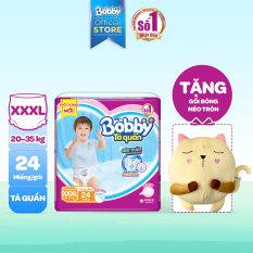 [Tặng mèo bông] Tã/ Bỉm quần Bobby Siêu Thấm Khô Thoáng Jumbo XXXL24