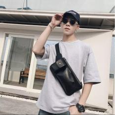 Túi đeo chéo dành cho nam da pu cao cấp thời trang phong cách (Đen) NAAA1