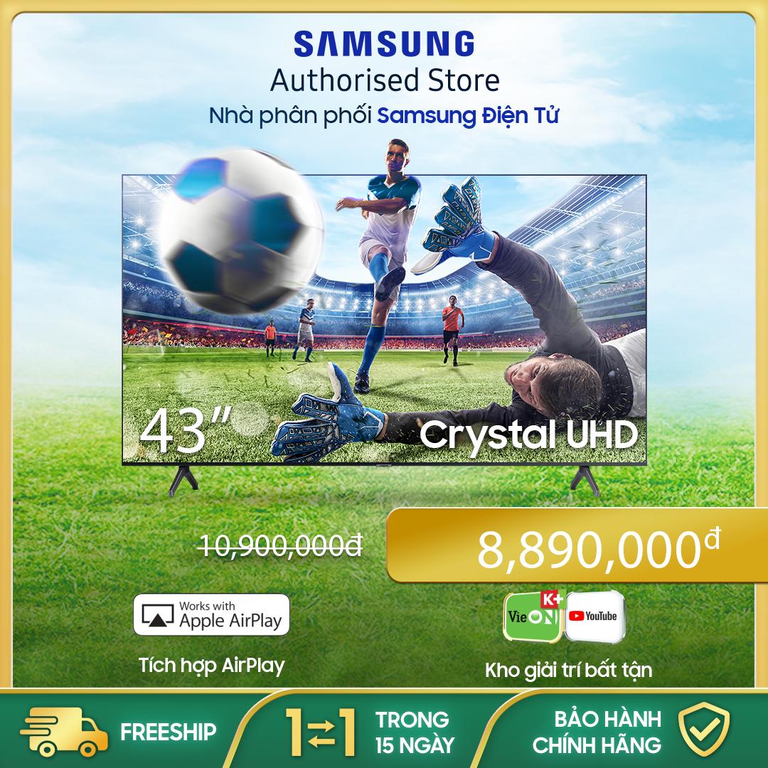 [Trả góp 0%]43TU6900 – Smart Tivi Samsung 4K 43 inch TU6900 Mới 2020