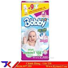 Miếng lót Bobby Newborn 1 siêu đại 108 miếng