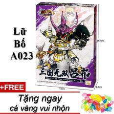 Mô hình lắp ráp New4all Gundam sd Tam Quốc Lữ Bố A023 tặng cá vàng vui nhộn The Three Kingdoms 11cm giá rẻ dưới 100k hàng đẹp cho trẻ trên 8 tuổi trở lên