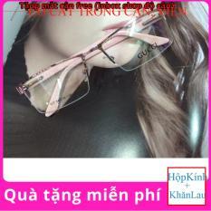 Gọng kính cận viền cước Tròng bằng kính ( Tặng tròng kính cận )