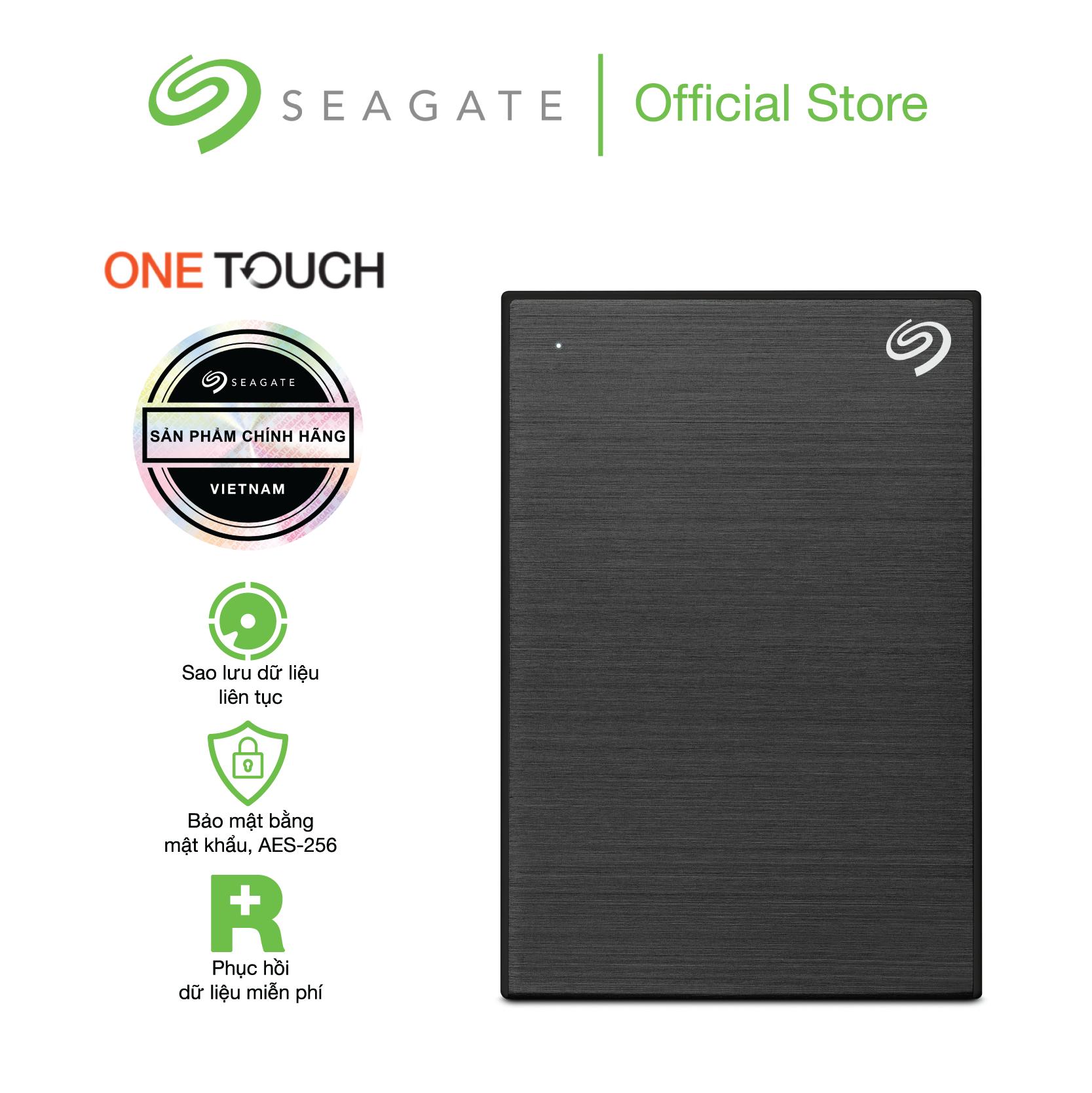 Ổ cứng Seagate One Touch HDD 1TB 2.5″ USB 3.0 + Giải cứu Dữ liệu miễn phí + 1 Áo phông One Touch