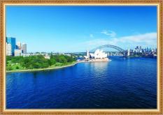 Tranh dán tường VTC Cảnh đẹp Sydney UD0163K Kim sa