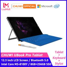 CHUWI Official Máy tính bảng Ubook Pro 2 trong 2, lõi m3-8100Y, CPU 8 + 256GB SSD, màn hình IPS 12.3 inch, độ phân giải 1980×1280, bluetooth 4.2, windows 10 – INTL
