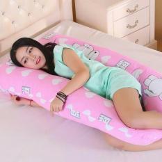 Gối Ôm Chữ U Cao Cấp Cho Bà Bầu Ngủ Ngon, Đỡ Chuột Rút, Tê Chân – Cotton Hàn Quốc (LOẠI TO DÀI 1.45M)
