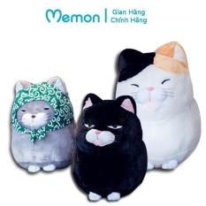 Mèo bông Amuse cao cấp Memon, kích thước 30 – 40cm, chất liệu vải nhung mịn Hàn Quốc, mèo mềm êm thích hợp làm quà tặng, gối ôm