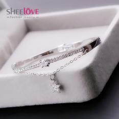 Vòng tay nữ trái tim số La Mã đính đá Zicon lấp lánh chất lượng cao cấp Rất đẹp thời trang Hàn Quốc Mẫu mới 2019 – Thương hiệu Sheelove
