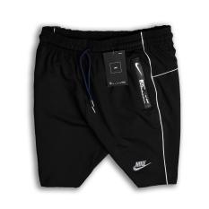 Quần short nam thể thao chất thun poly 4 chiều co dãn thoải mái, vải mềm mịn, dày dặn, logo thêu chắc chắn, túi khóa kéo kín đáo, phối sọc sườn nổi bật – QS22