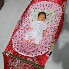 Đệm bọc nôi tre cho bé nằm ngủ võng chống cong lưng