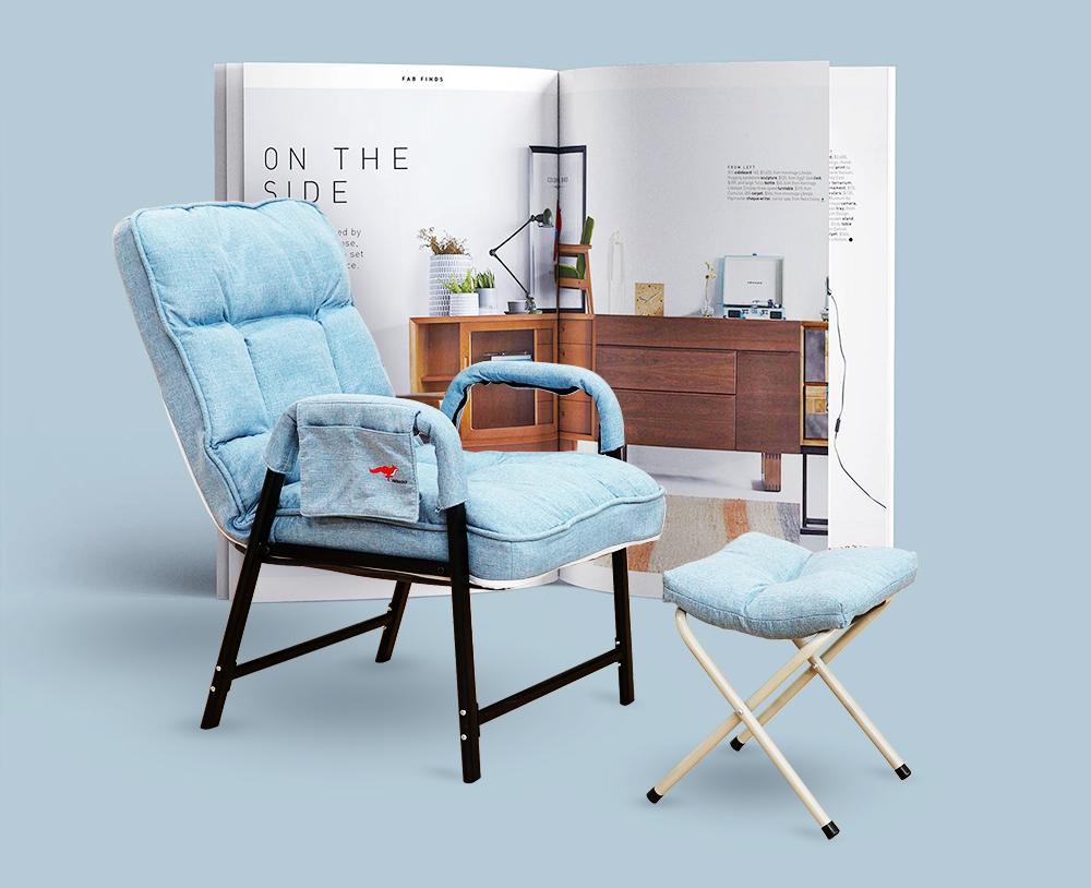 Ghế sofa lười văn phòng lưng tựa thoải mái TẶNG KÈM GHẾ ĐÔN