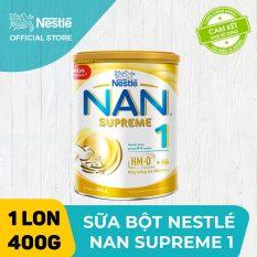 [FREESHIP 30K ĐƠN 399K] Sản phẩm dinh dưỡng công thức Nestle NAN SUPREME 1 lon 400g cho trẻ từ 0-6 tháng tuổi giúp trẻ dễ tiêu hóa và tăng cân khỏe mạnh