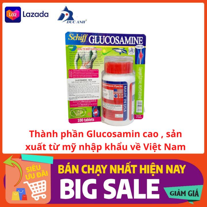 Schiff Glucosamin 1500mg hỗ chợ giảm đau xương khớp , chống thoái hóa sụn khớp 100 viên