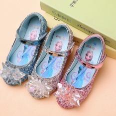 Giày công chúa Elsa bé gái đính hoa tuyết pha lê cho bé từ 2 – 10 tuổi