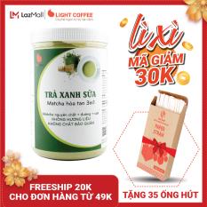 [MÃ GIẢM 30K] Bột trà xanh sữa 3in1, matcha xuất xứ Nhật Bản, hũ 550g, từ nhà sản xuất Light Coffee