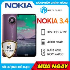 Điện Thoại Nokia 3.4 (4GB/64GB)- Hàng Chính Hãng, Mới 100%, Nguyên Seal, Bảo hành 12 tháng