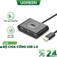 [Nhập ELMAY21 giảm thêm 10% đơn từ 99k] Hub USB 3.0 4 cổng tốc độ 5Gbps dài 25-30cm UGREEN CR113 – Hãng phân phối chính thức