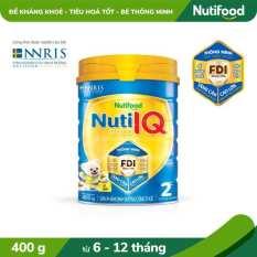 Sữa Bột Nuti IQ Gold 2 từ 6-12 tháng lon 400g- Đề kháng khỏe và Tiêu hóa tốt [Ưu đãi vận chuyển]