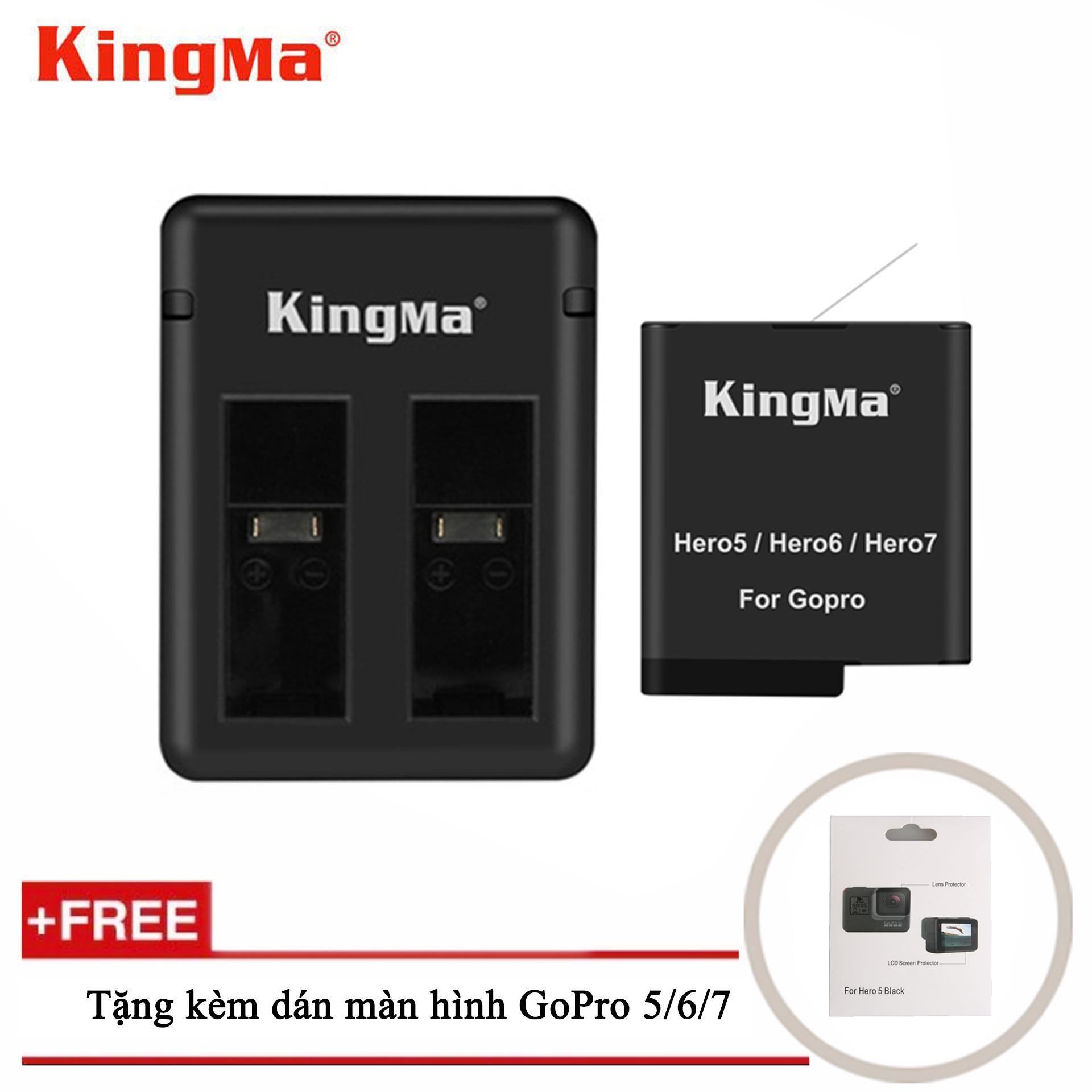 Combo sạc đôi + 1 pin Kingma cho GoPro Hero 5, GoPro Hero 6, GoPro Hero 7, GoPro Hero 8,...