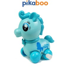 Đồ Chơi Trẻ Em Mô Hình Ngựa Pony Pikaboo, Xe Chạy Cót, Kích Thước 9*8.8*6cm, Chất Liệu Nhựa Cao Cấp An Toàn, Màu Sắc Đa Dạng Trang Nhã Cho Bé Yêu