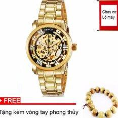 Đồng hồ cơ nam dây thép mạ vàng SEWOR 91120