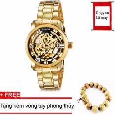 Đồng hồ cơ nam dây thép mạ vàng SEWOR 91120A