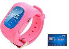 Đồng hồ định vị an toàn trẻ em GPS Smartwatch Và 01 Sim 3G Trọn Gói 12 Tháng 4G/Tháng (Mầu Hồng)