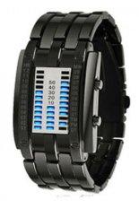 Đồng hồ LED dây thép không gỉ Skmei 0926L America (Đen)