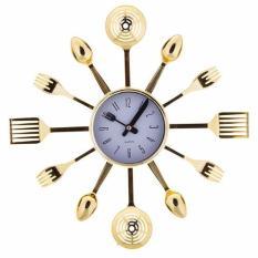 Đồng hồ muỗng nĩa treo tường PL.30-009(Gold)