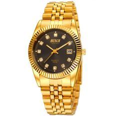 Đồng hồ nam BOSCK dây mạ vàng BI014 (Đen)