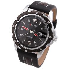 Đồng hồ nam dây da Curren 8104 (Đen)