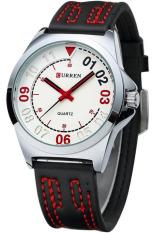 Đồng hồ nam dây da Curren 8153 (Đen phối đỏ)