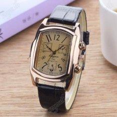 Đồng hồ nam dây da mặt chữ nhật Geneva GE029-3 (đen mặt ngà)