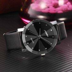 Chỗ nào bán Đồng hồ nam dây da mặt kính 3D chống xước SINOBI SI5D (Đen)