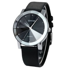 Đồng hồ nam dây da Sinobi 3D SI015 DH25 (Đen)