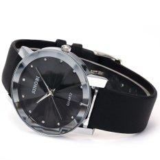 Đồng hồ nam dây da Sinobi 3D SI015 DH27 (Đen)