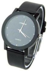 Đồng hồ nam dây da Sinobi 98KN1 (Đen)