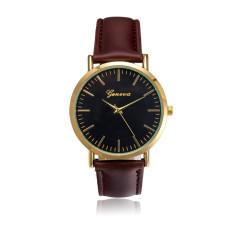 Đồng hồ nam dây da tổng hợp Geneva GE021-4 (Nâu đen)