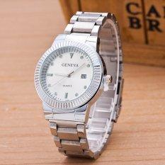Đồng hồ nam dây hợp kim Geneva GE025-1 (Bạc)